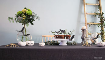decor table diy halloween