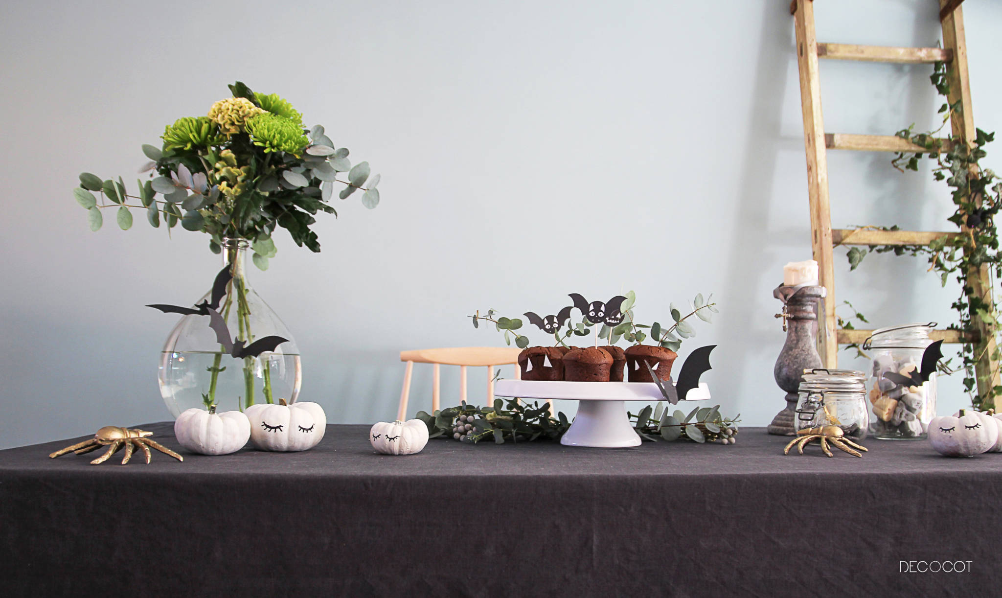 decor table diy halloween