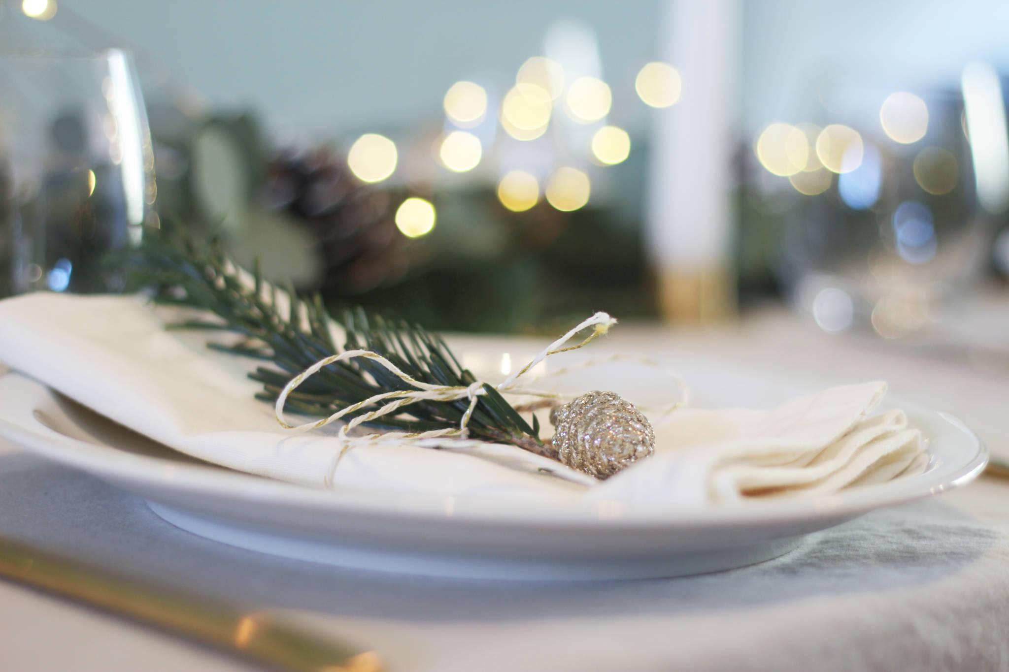 décoration de noel table de fête