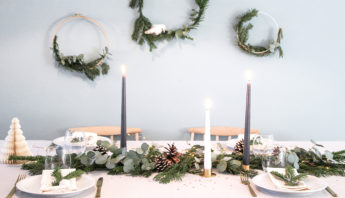 decoration de table de noel inspiration scandinave