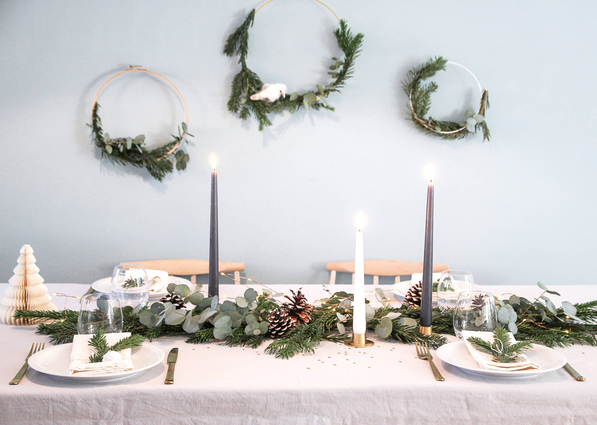decoration de table de noel inspiration scandinave